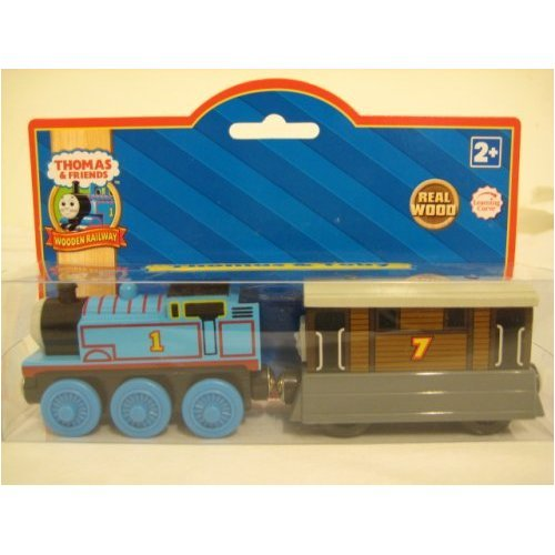 51B33WBNEvL Buy  Thomas & Toby Gift Pack   Thomas the Tank Train Wooden Railway