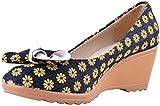 Heels & Toes Women's Yellow And Blue Hemp Wedges - 35 EU