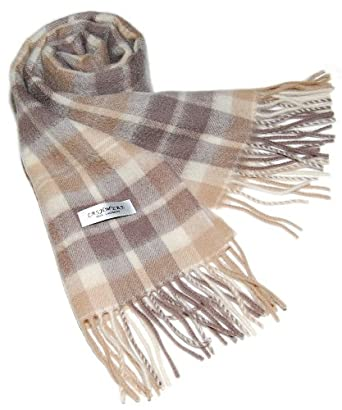 100% 2PLY CASHMERE 2PLY Mens / Womens Scarf Beige/Camel/Cream/Tan