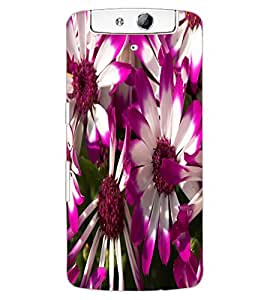 ColourCraft Beautiful Flowers Design Back Case Cover for OPPO N1
