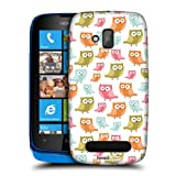 Head Case Designs Curious Little Owls Kawaii Protective Snap-on Hard Back Case Cover for Nokia Lumia 610