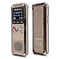 TNP Digital Voice Recorder - Audio Sound Recording Dictaphone Built-in Condenser Stereo Microphones & Speaker with 8GB Memory Mini Portable Sound, Meeting, Interview, Classroom, Lecture, MP3 Player from Tnp Products
