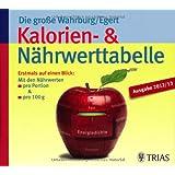 Die große Wahrburg/Egert Kalorien-&-Nährwerttabelle: Erstmals auf einen Blick: Mit den Nährwerten  pro Portion & pro 100 g