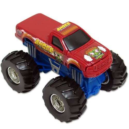 Hot Wheels Monster Jam ANGER MANAGEMENT Rev Tredz Official Monster Truck Series 1:43 Scale