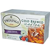 Twinings, Cold Brewed Iced Tea, Mixed Berries, 20 Tea Bags, 1.41 oz (40 g)
