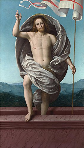 Polyster Canvas ,the High Resolution Art Decorative Prints On Canvas Of Oil Painting 'Gaudenzio Ferrari Christ Rising From The Tomb ', 20 X 35 Inch / 51 X 90 Cm Is Best For Home Office Artwork And Home Gallery Art And Gifts