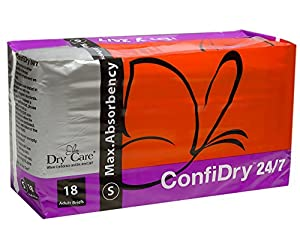 Dry Care®ConfiDry 24/7 Max AbsorbencyAdult Brief Diapers, Small Size by Dry Care
