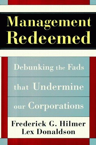 Management Redeemed, Hilmer, Frederick G.