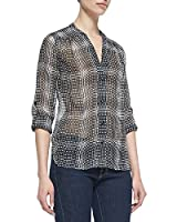 Diane Von Furstenberg Harlow Top in Optic Plaid