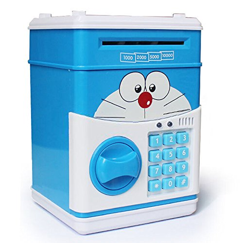 Yilong NEW Style Electronic Money Saving Box,Piggy Bank Upgrades,Blue,Yellow (Coin Operated Door Lock compare prices)
