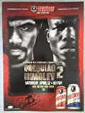 Manny Pacquiao Signed 16x22 Autographed COA Poster Tecate vs Timothy Bradley - JSA Certified - Autographed Boxing Photos