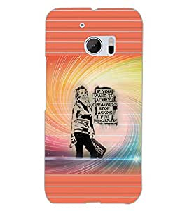 PRINTSWAG GIRL QUOTES Designer Back Cover Case for HTC 10
