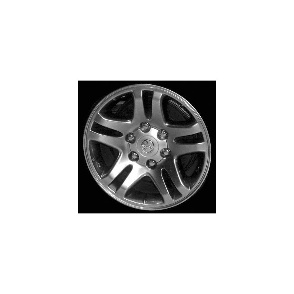 03 05 TOYOTA TUNDRA ALLOY WHEEL RIM 17 INCH TRUCK, Diameter 17, Width 7.5, Lug 6 (10 SPOKE), HYPER SILVER, 1 Piece Only, Remanufactured , (center cap not included) (2003 03 2004 04 2005 05) ALY69440U7