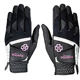 LEZAX(レザックス) Nicotera 当て布付で抜群の耐久性 レディス用両手用合成皮革手袋 ブラック M(19-20cm) NTGL-3407 BK-M ブラック M
