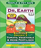 Dr. Earth 704P Organic 5 Tomato, Vegetable & Herb Fertilizer Poly Bag, 4-Pound