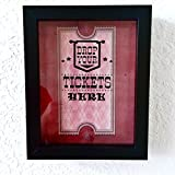 Ticket Shadow Box - Memento Frame - Large Slot on Top of Frame - Memory Box Storage Just Right for Any Size Tickets . Best Display for the Concert Movie Theater and Sporting Event Tickets Stubs .