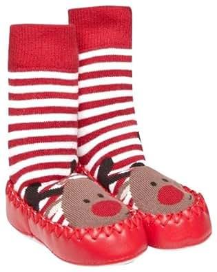 Amazon.com: JoJo Maman Bebe Unisex Baby Slipper Socks - Reindeer - 6