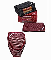 Kuber Industries Saree Cover 3 Pcs Set in Polka Dots & Blouse Cover (4 Pcs Combo)