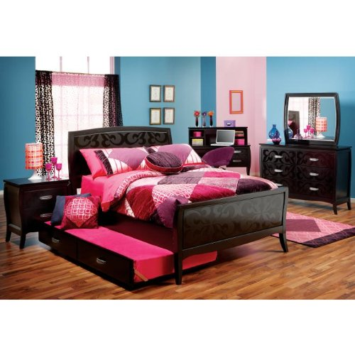 bedroom sets furniture belle noir 3 pc full bedroom