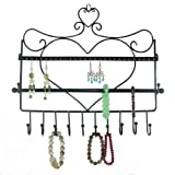 Zoohu Wall Mount Jewelry Organizer (Heart-theme)