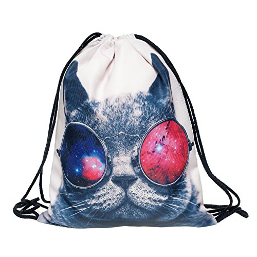 Galaxy a forma di gatto Animal print Allover print sacchetto custodia full babysmiles sacchetto iuta Borsa in juta sacchetto Hipster Fashion Loomiloo GC