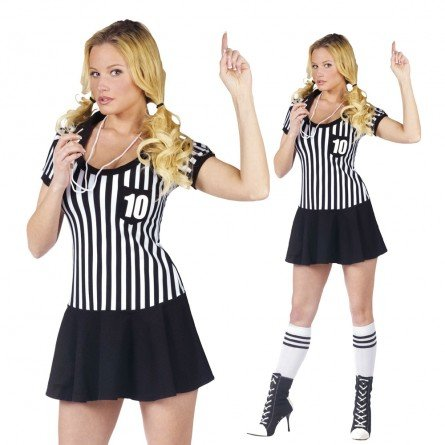 Racy Referee Adult 10-14 Halloween Costume