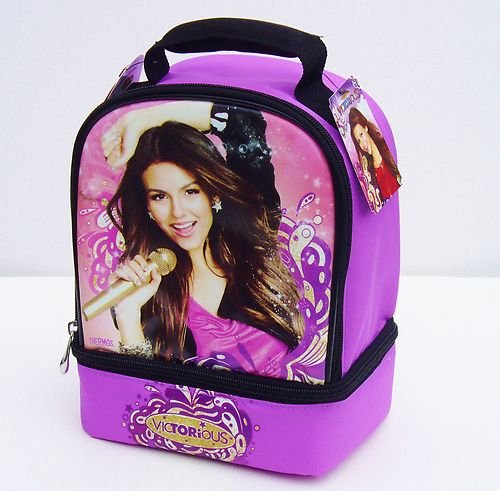 Victorious Victoria Justice Insulated Dual Lunch BAG - 1