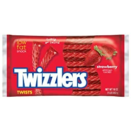 TWIZZLERS Twists (Strawberry, 16-Ounce Bags, Pack of 6)