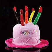 【Eanas Collection】ハッピー バースデー お誕生日 おめでとう パーティ 皆でお祝い 飾りつけ グッズ 小物 セット ハット & ハート型バルーン & きらきらバナー (ピンク)