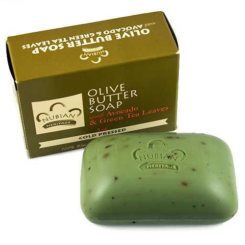 Olive & Green Tea Soap With Avocado & Green Tea Leaves Anti Aging Moisturizing 5 Oz. (6 Pack).. Mtc