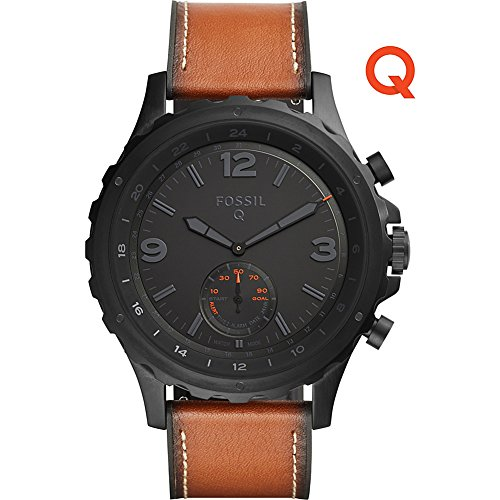 Fossil-Q-Nate-Gen-2-Hybrid-Brown-Leather-Smartwatch