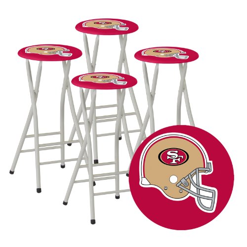 Best of Times Bar Stools, San Francisco 49ers, Set of 4