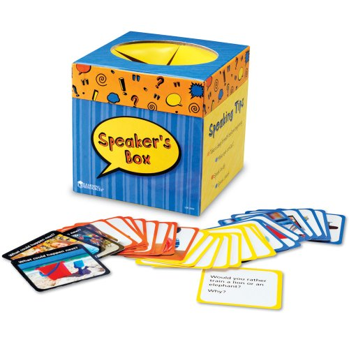Learning Resources Speaker's Box - Juego de oratoria (en inglés)