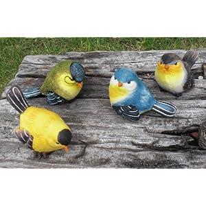 森の小鳥 置物 S 4個セット