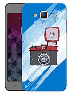 "Humor Gang Camera Flash Printed Designer Mobile Back Cover For ""Samsung Galaxy E7"" (3D, Matte, Premium Quality Snap On Case)"