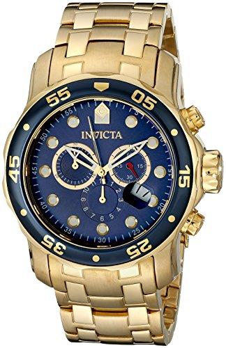Invicta 0073 - Reloj de pulsera hombre, color dorado