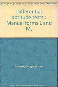 Test differential manual aptitude pdf