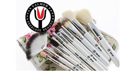 Yalmeh Professional Makeup Brush Set| Pro Cosmetic 12-Piece, Makeup Brush Set With Case| Makeup Brush Set| Eye Makeup Brush Set| Synthetic Makeup Brush Set| Yalmeh Professional Makeup Brush Set Could Be The Last Makeup Pro Brush Set You Ever Need! Travel