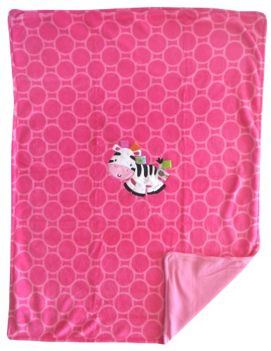 Pink Zebra Baby Blanket front-174525