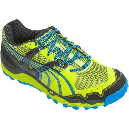 Puma Complete Trailfox 4 Trail Running Shoe - Men's Lime Punch/Black/Blue Aster, 9.5
