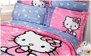 Hot seller pink and blue hello kitty - Hot pink and blue bedding ...
