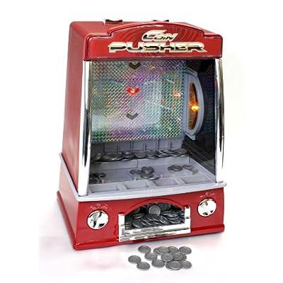 電動コインプッシャー コイン落としゲーム メダルゲーム コイン140枚付 振動センサー搭載