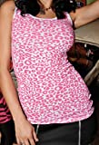 Folter Clothing LEOPARD CUT-UP BACK TANK in Fucshia & White- Small