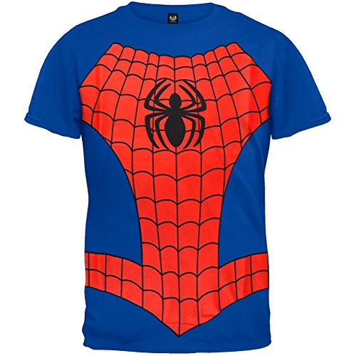 Spider-man - Boys Costume Juvy T-shirt Small Blue