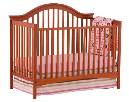 Stork Craft Ravena Fixed Side Convertible Crib, Cognac