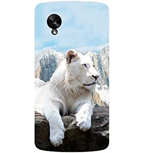 Casotec Snow Lion Design Hard Back Case Cover for LG Google Nexus 5