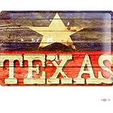 M.A. Allen Retro Tin Sign U.S. Deco Texas sheriff star Advertising 20x30 cm Large Metal Wall Decoration Vintage Retro Classic Plaque