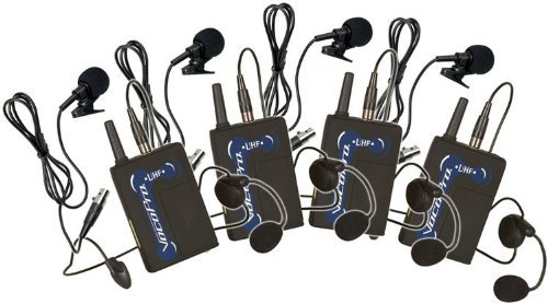 Vocopro Ubp-3 Wireless Headset Microphone (Package Of 4 Uhf-Bp1)