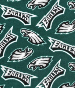 Philadelphia Eagles Nfl Fleece Fabric - By The Yard