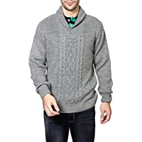 People Men's Synthetic Sweater (8903880909697_P10101188008383_Large_Grey Melange)